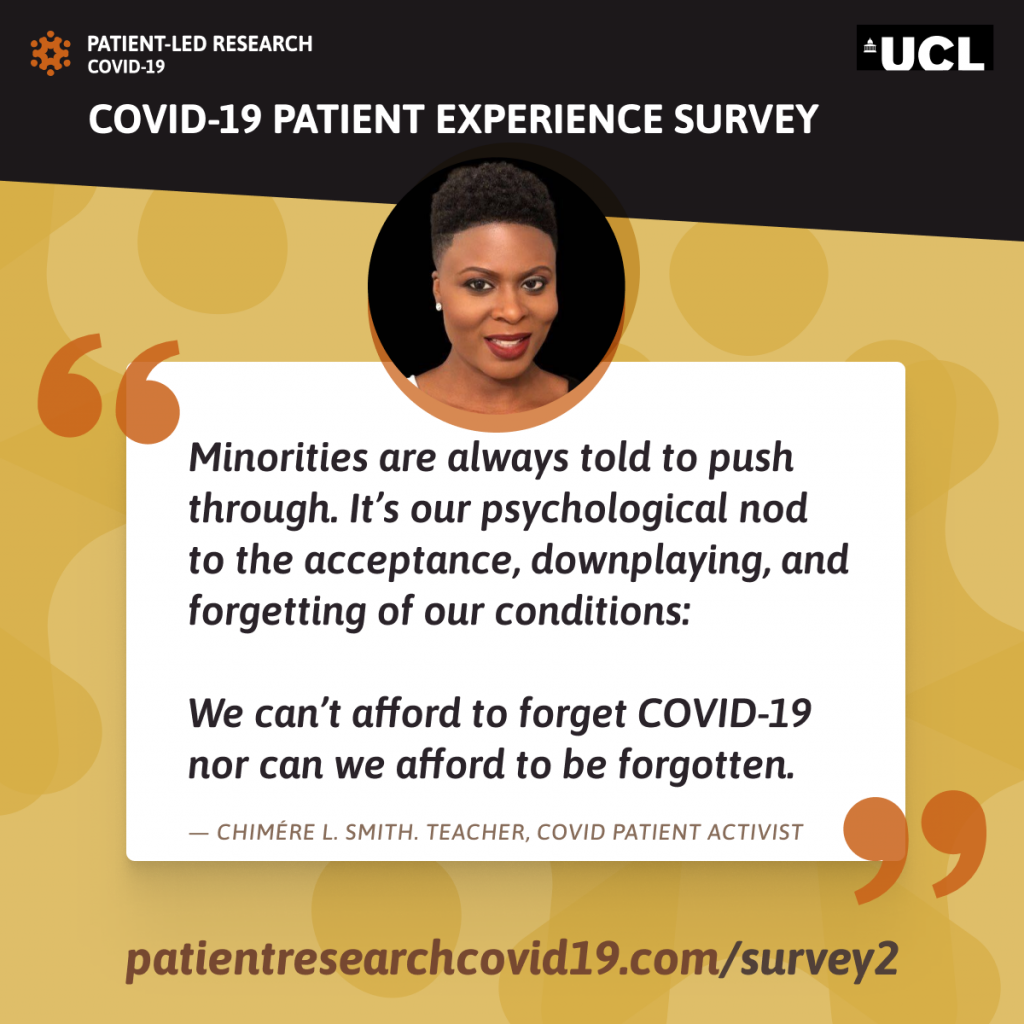 Chimere Smith Patient Led Research Covid 19