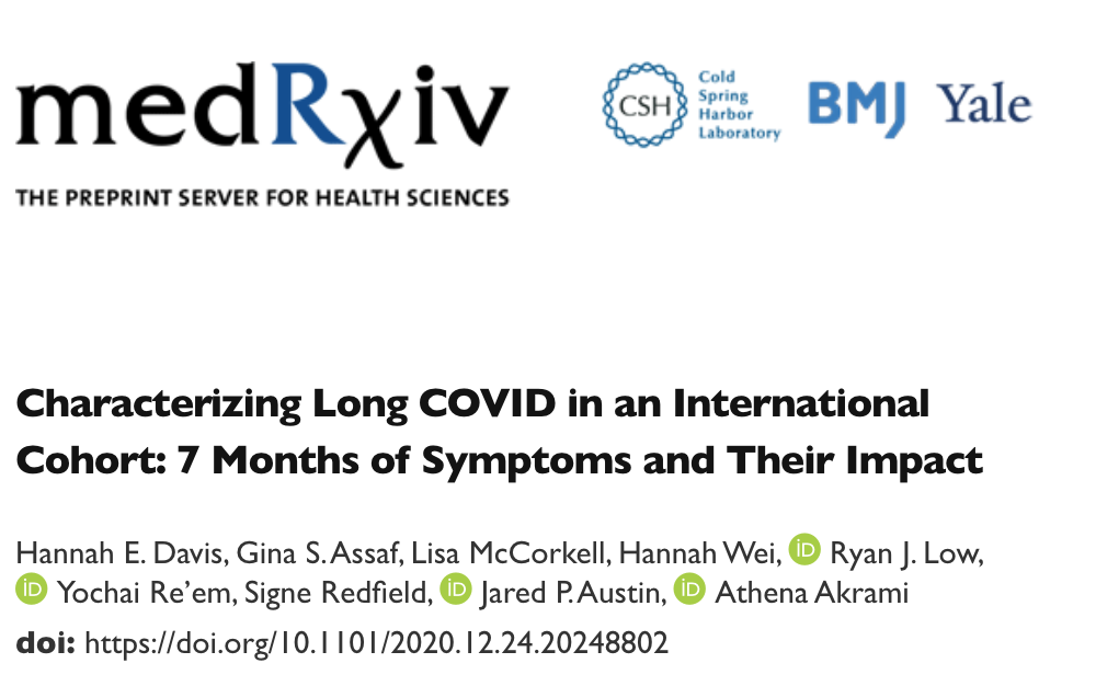 MedRxiv BMJ Yale Patient Led Research Covid newsletter 2