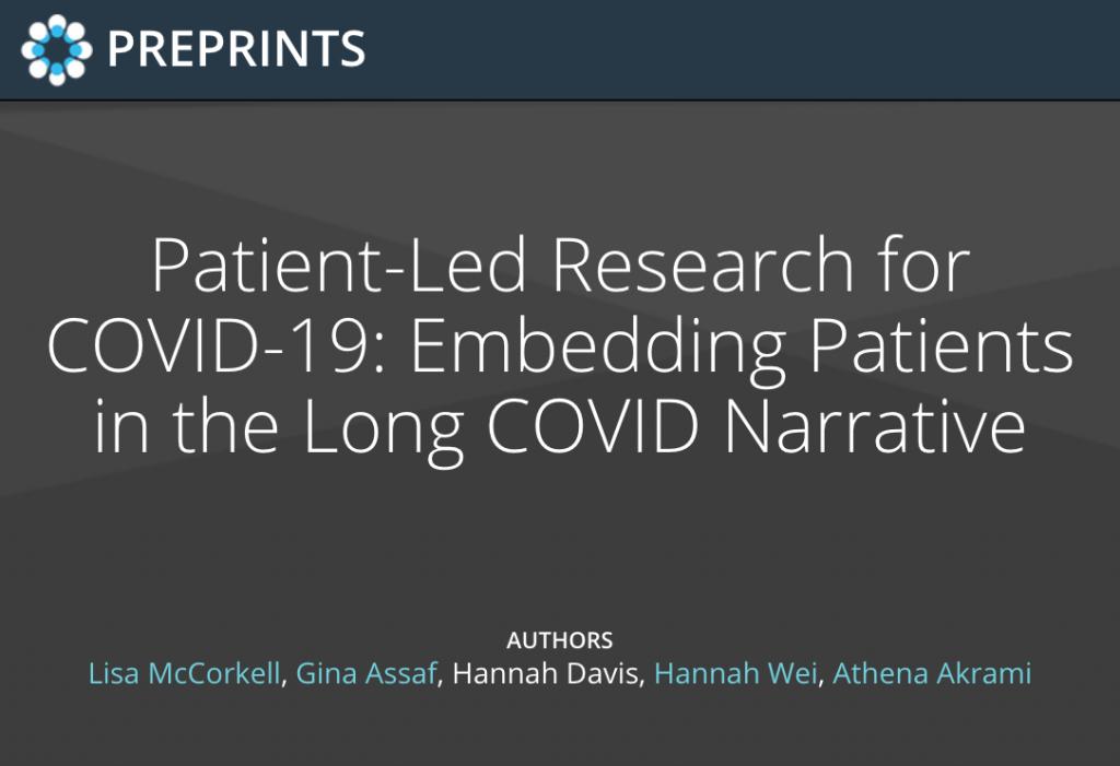 Patient Led Research for Covid 19 preprints