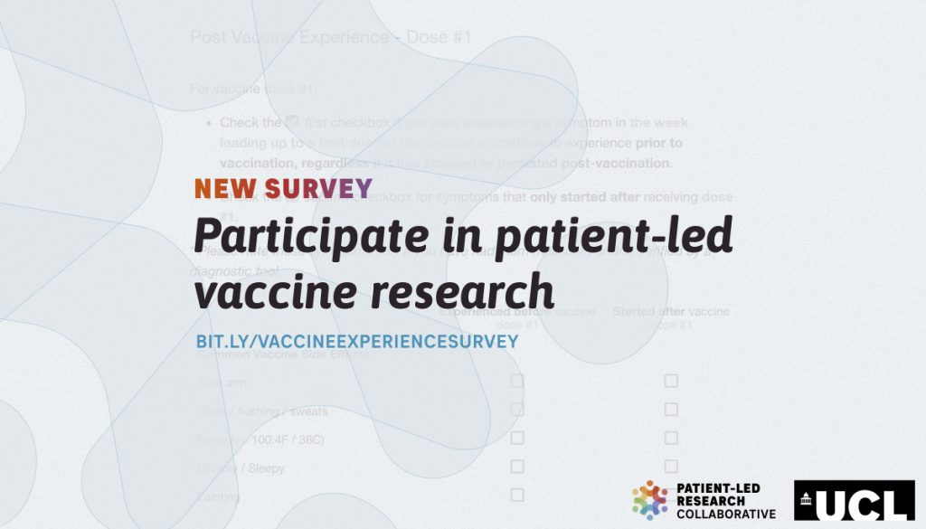 New survey patient-led vaccine research covid 19